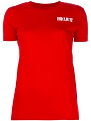Wood Wood 'Romantic' Chest Print T Shirt Red