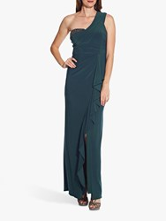 Adrianna Papell One Shoulder Gown Midnight Teal