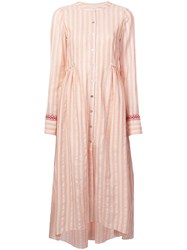 Lemlem Nefasi Striped Shirt Dress Pink