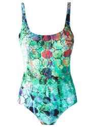 Lygia And Nanny Abstract Print Swimsuit Green