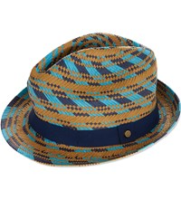 Ted Baker Pathat Straw Trilby Hat Natural