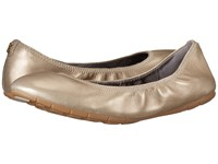 Cole Haan Zerogrand Stagedoor Ballet Plain Soft Gold Metallic Women's Flat Shoes