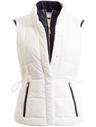 Green Lamb Jess Quilted Gilet White