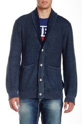 True Religion Long Sleeve Button Down Cardigan Blue