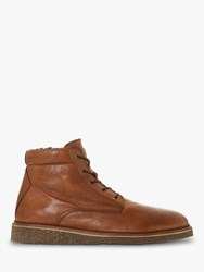 Bertie Carstairs Borg Lined Leather Boots Tan