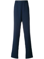 Issey Miyake Tailored Trousers Blue