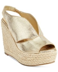 Callisto Athena Alexander By Goodye Espadrille Wedge Sandals Women's Shoes Gold Sparkle