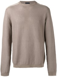 Etro Crew Neck Jumper Brown