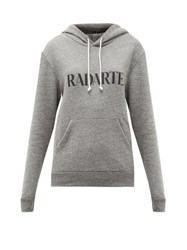 Rodarte Print Fleeceback Jersey Hooded Sweatshirt Grey