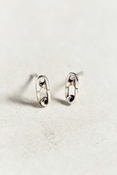 Bing Bang Safety Pin Stud Earring Silver