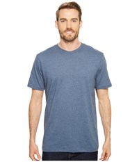 Prana R Crew Tee Denim Heather Short Sleeve Pullover Blue