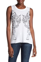 Chaser Tiger Muscle Tee White