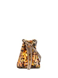 Nanushka Minee Tortoise Printed Bucket Bag Brown