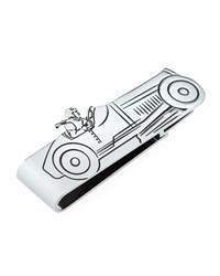 Dunhill Rhodium Plated Racer Money Clip Silver