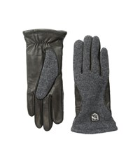 Hestra Hairsheep Wool Tricot Charcoal Black Ski Gloves
