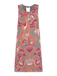 Biba Enlarged Logo Printed Envelope Dress Multi Coloured