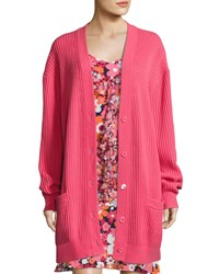 Michael Kors Oversized Cashmere Cardigan Pink