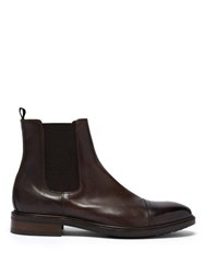 Paul Smith Jake Leather Chelsea Boots Brown
