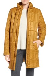 Eileen Fisher Women's Recycled Nylon Blend Quilted Jacket Arnica