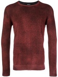 Avant Toi Overdyed Sweater Red