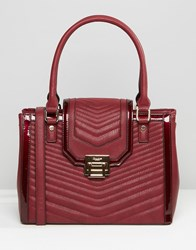 Dune Quilted Tote Bag Berry Red
