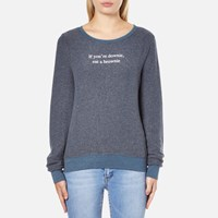 Wildfox Couture Women's Downie Baggy Beach Sweatshirt After Midnight Blue