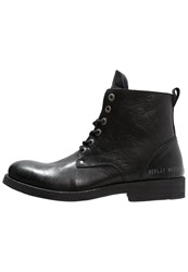 Replay Blind Laceup Boots Black