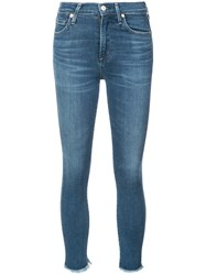 Citizens Of Humanity Frayed Jeans Blue