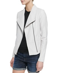 Vince Moto Style Leather Knit Jacket Small