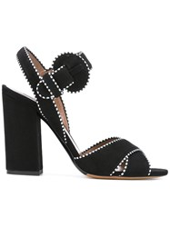 Tabitha Simmons Contrast Stitch Sandals Black