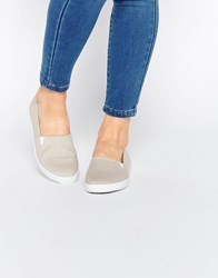 Asos Dede Canvas Trainers Grey