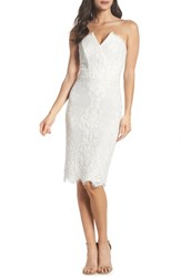 Harlyn Strapless Lace Cocktail Dress Off White