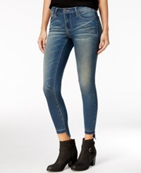 Rampage Juniors' Sophie Ripped Skinny Jeans Well Wash