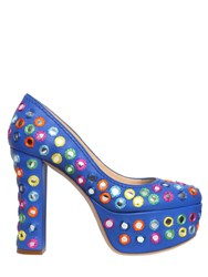 Moschino 120Mm Embellished Leather Pumps
