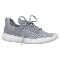 Carvela Limped Lace Up Trainers Grey