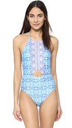 Nanette Lepore Seaside Tile Seductress One Piece Multi
