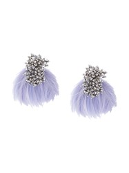 Mignonne Gavigan Feather Earrings Pink And Purple
