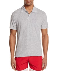Bloomingdale's The Men's Store At Terry Cloth Regular Fit Polo Shirt Heather Gray
