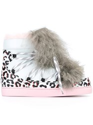 Sophia Webster Fur Detail Animal Print Sneakers Blue