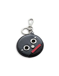 Calvin Klein Robot Leather Keychain Heather Black Combo