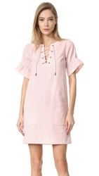 Whistles Rosa Lace Tie Front Dress Pale Pink