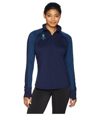 Brooks Usa Games Event Dash 1 2 Zip Navy Navy Stripe Clothing