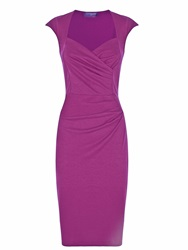 Hotsquash Short Sleeved Dress In Clever Fabric Fuchsia