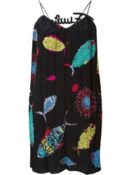 Emilio Pucci Printed Slip Dress Black
