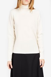 Victoria Beckham Women S Button Fastening Back Jumper Ivory