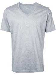 Estnation V Neck T Shirt Grey
