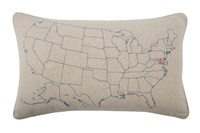 Thomas Paul Usa Embroidered Pillow Multicolor