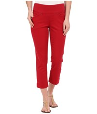 Jag Jeans Marion Crop In Bay Twill Dark Poppy Women's Clothing Red