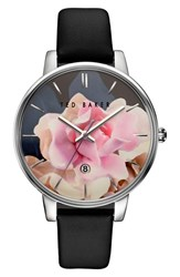 Ted Baker Women's Round Dial Leather Strap Watch 40Mm