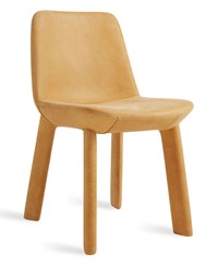 Blu Dot Neat Leather Dining Chair Camel Leather